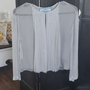 Prada Pleated Silk Blouse